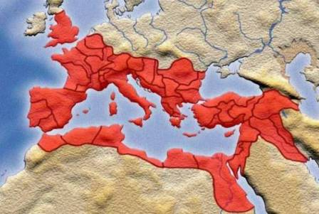 Roman Empire at its peak 150 A.D.