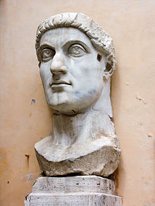 Colossal marble head of Emperor Constantine the Great, Roman, 4th century